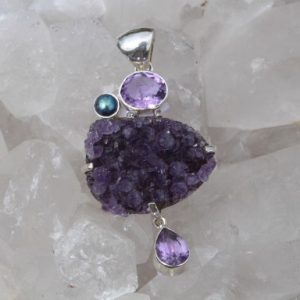 Amethyst Cluster, Oval & Tear Drop