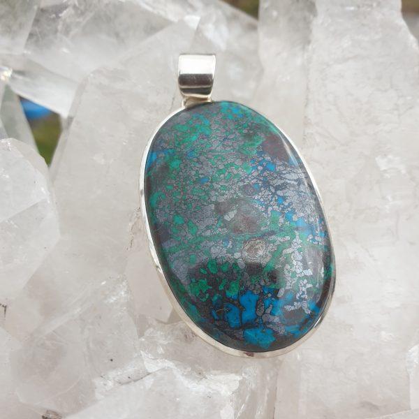 Azurite Malachite Pendant